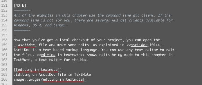 A screenshot of an AsciiDoc file in TextMate