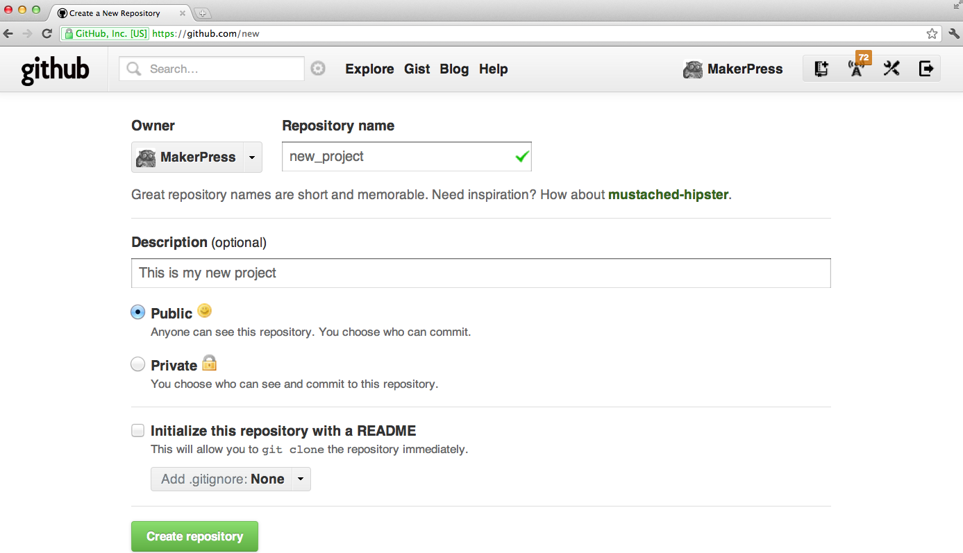 A screenshot of the GitHub interface