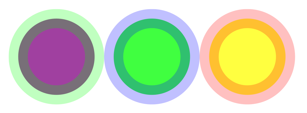 More RGBA SVG shapes