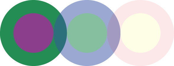 Semiopaque circles