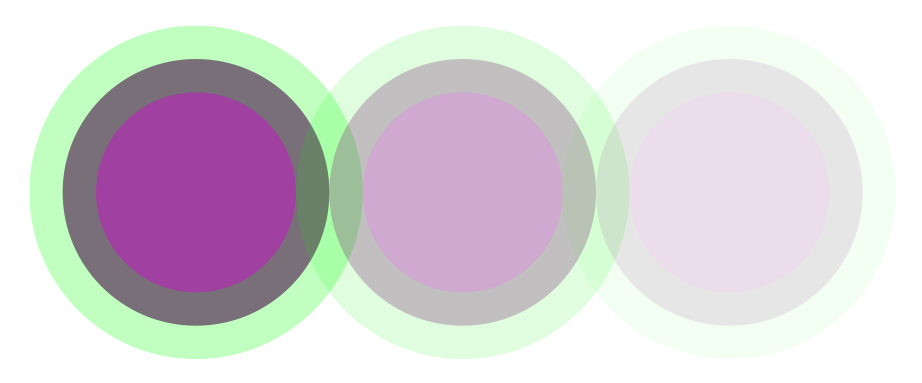 More opaque circles