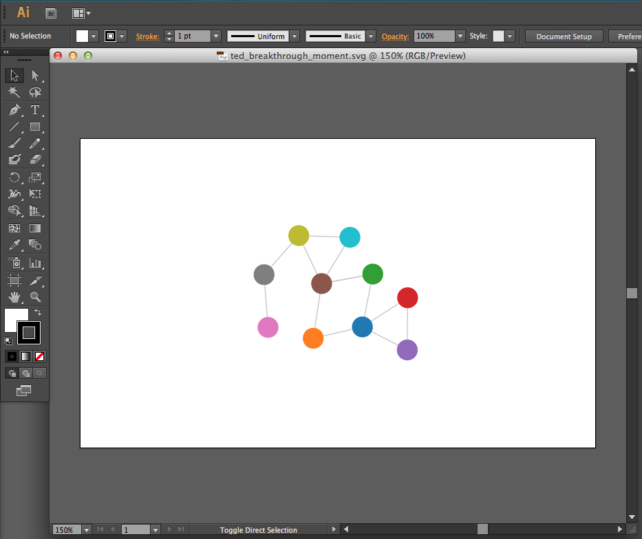 Exported SVG opened in Illustrator
