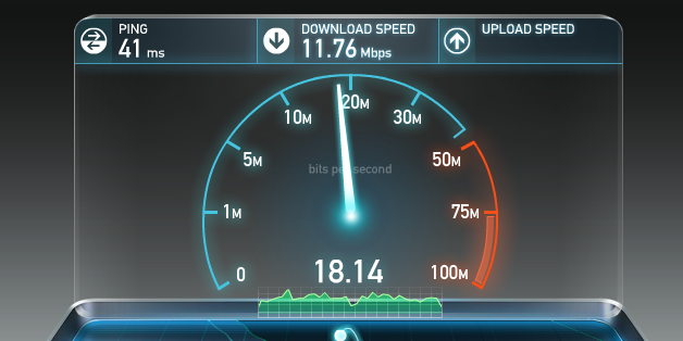 Upstream and downstream test (speedtest.net)