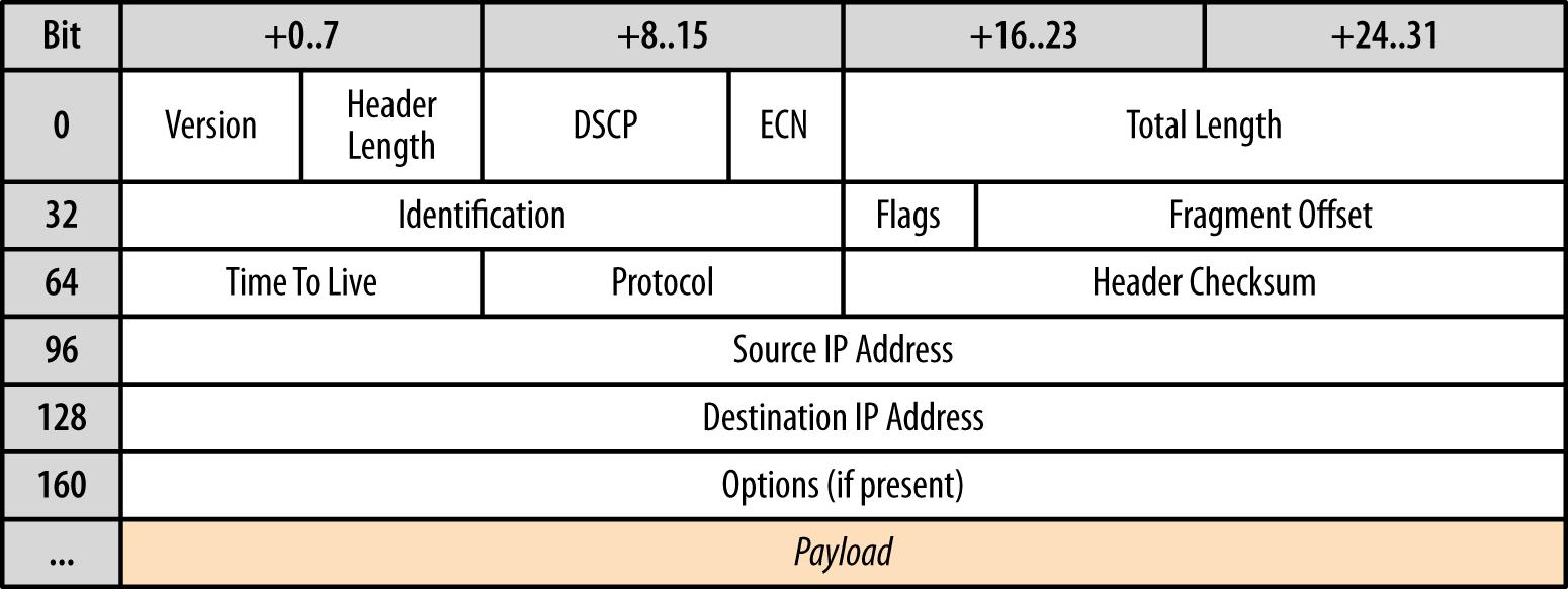 IPv4 header (20 bytes)
