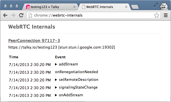 chrome://webrtc-internals