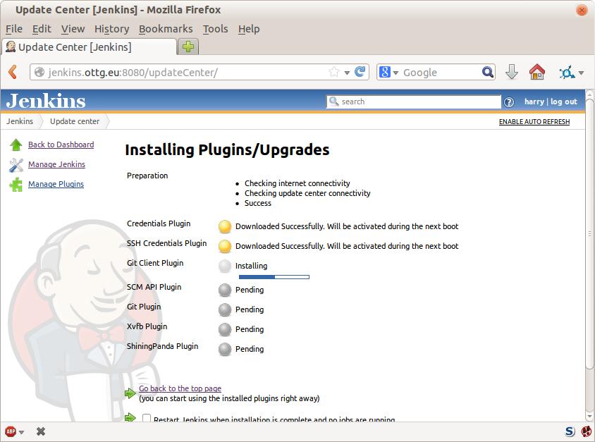 Jenkins installing plugins