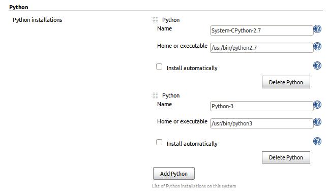 Adding Python 3