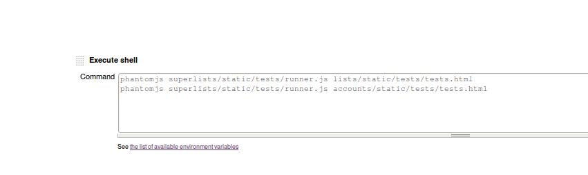 Jenkins' default welcome screen
