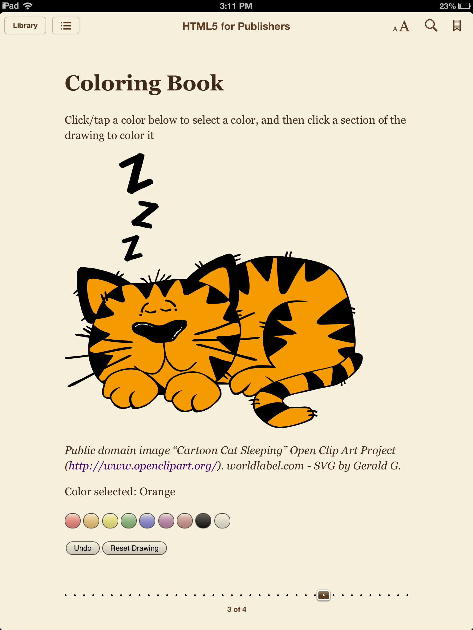 Coloring book html5 - Svg Coloring Book Completed Sleepy Cat Image He S Masquerading As