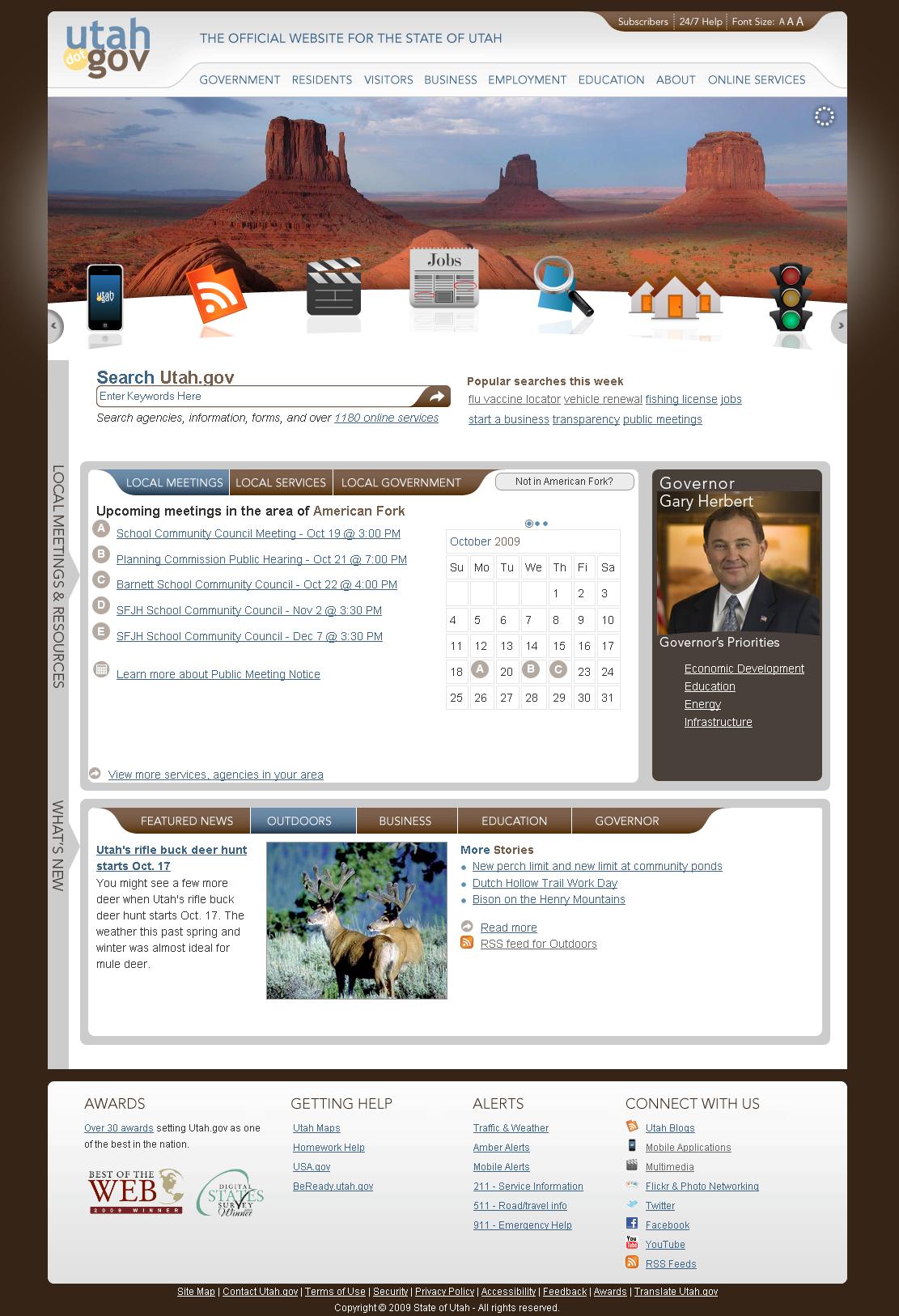 Utah.gov portal