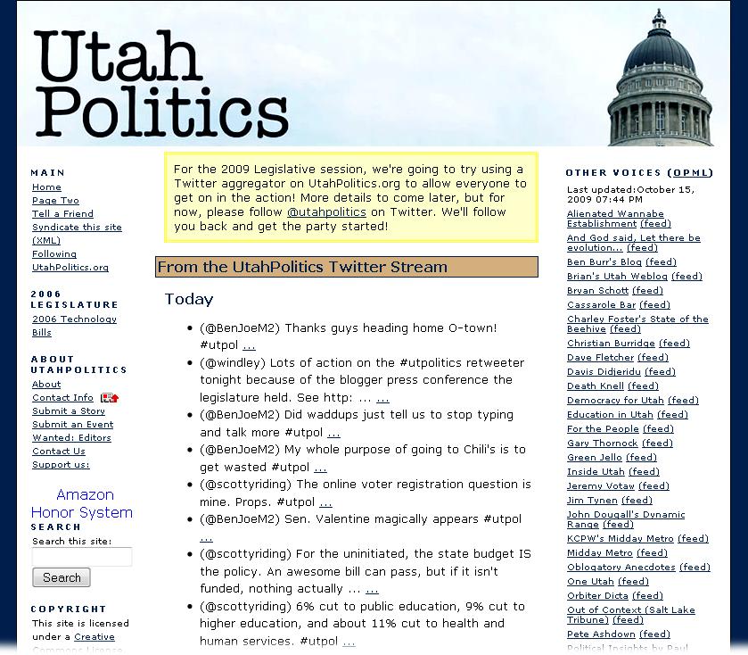 Utah Politics Twitter stream