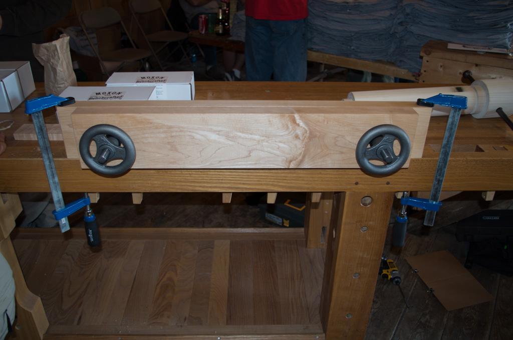 A Benchcrafted Moxon vise.