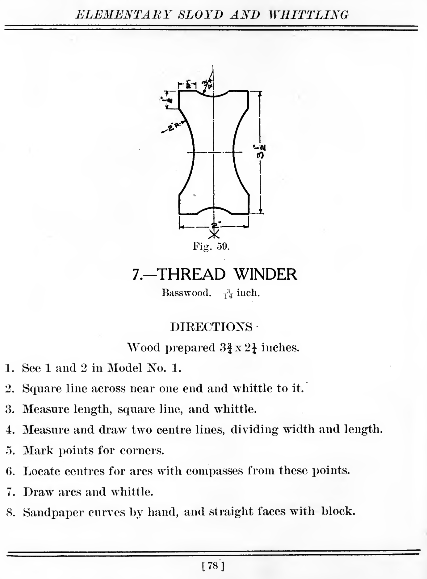 Larsson's plan for a thread winder.