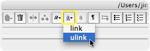 Convert to ulink