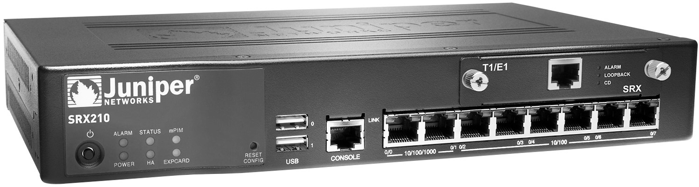 The front of the SRX210
