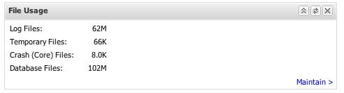 File Usage panel