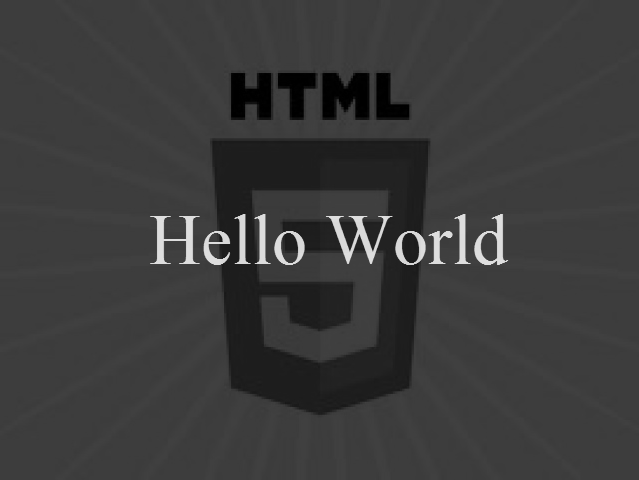 HTML5 Canvas Animated Hello World