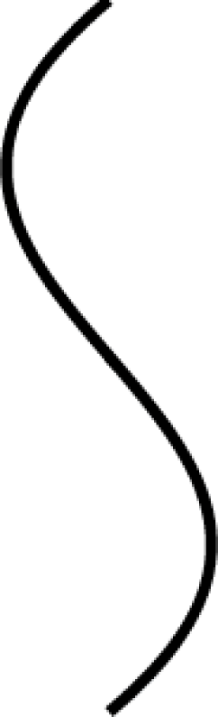 A Bezier curve with two control points
