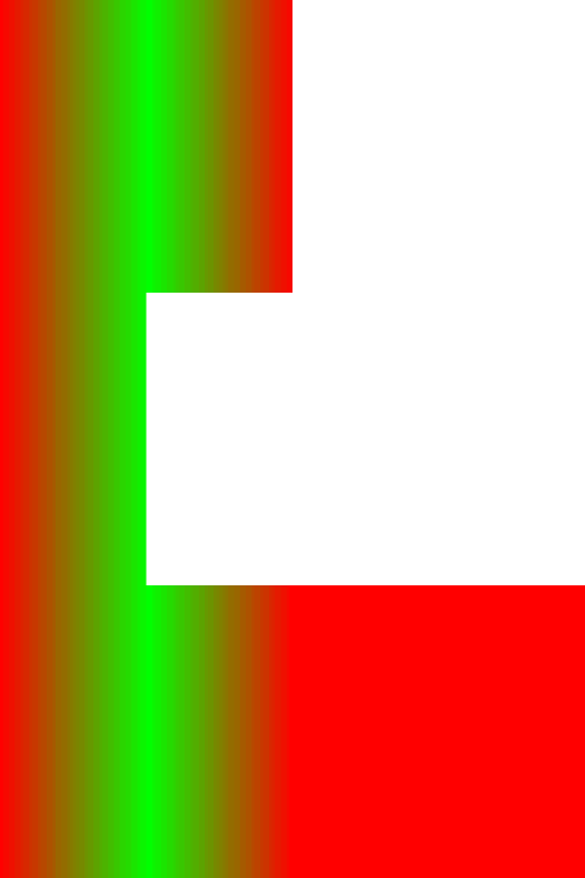 Linear horizontal gradient on multiple objects