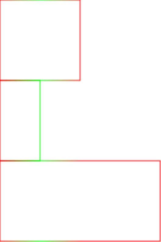 Horizontal stroke gradients