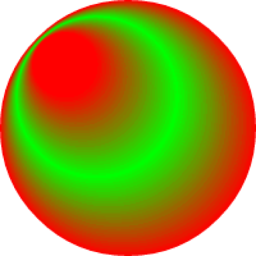 A radial gradient applied to a circle
