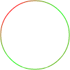 An arc stroke gradient