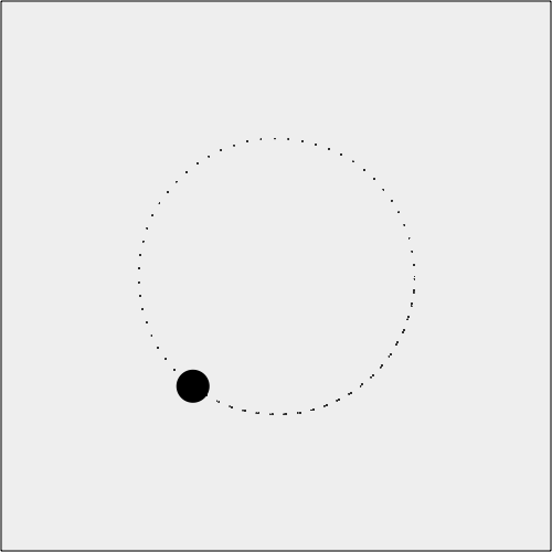 Moving an object in a circle