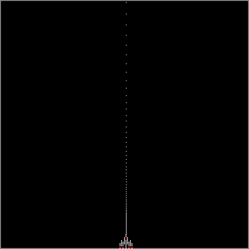 Spaceship landing (easing out)