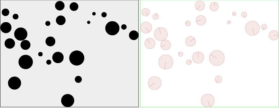 Bouncing balls in Box2D on the Canvas and in b2DebugDraw