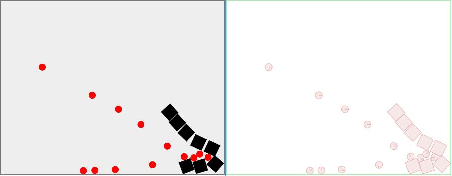 Shooting balls at boxes