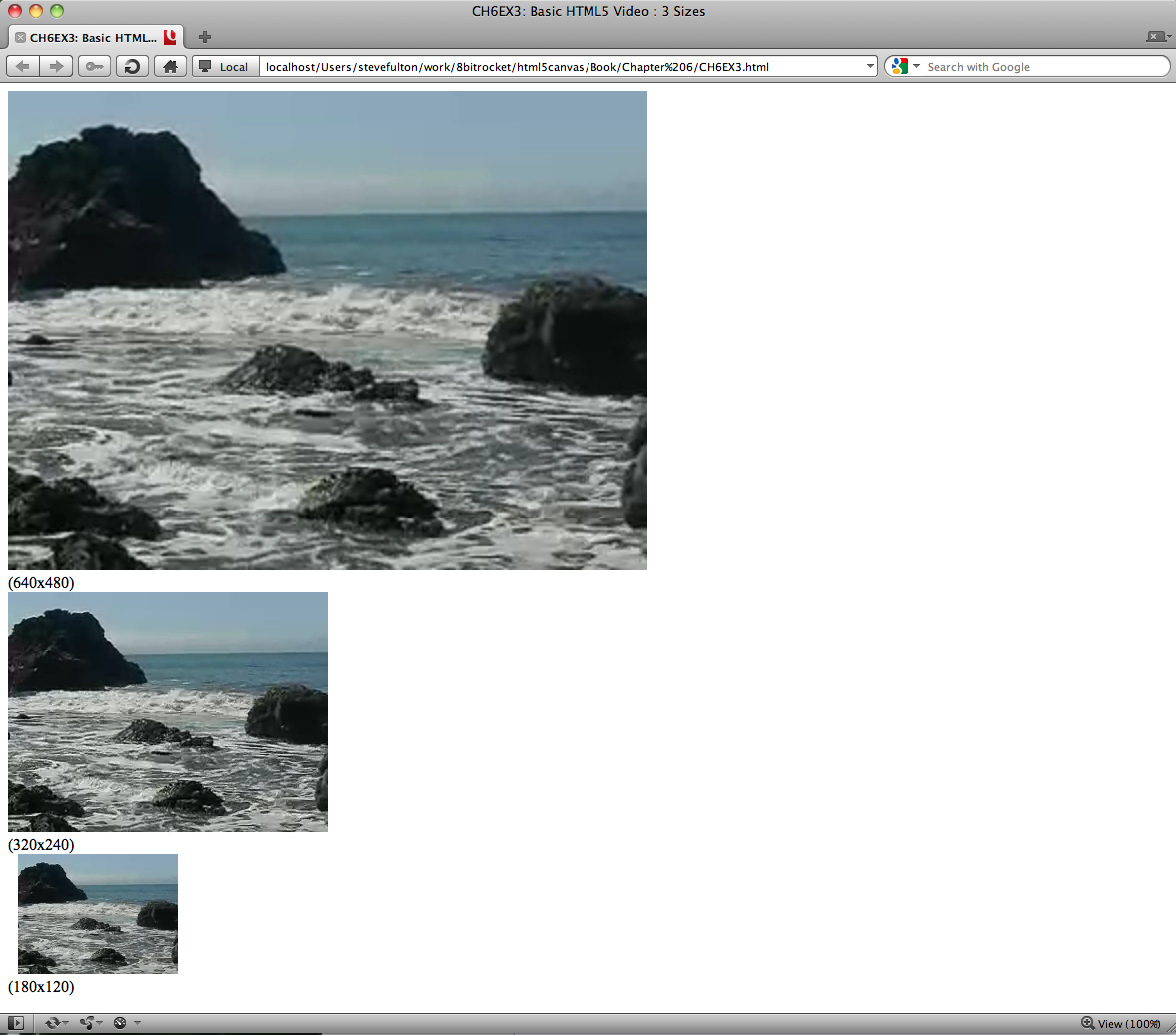 Controlling video width and height in the embed