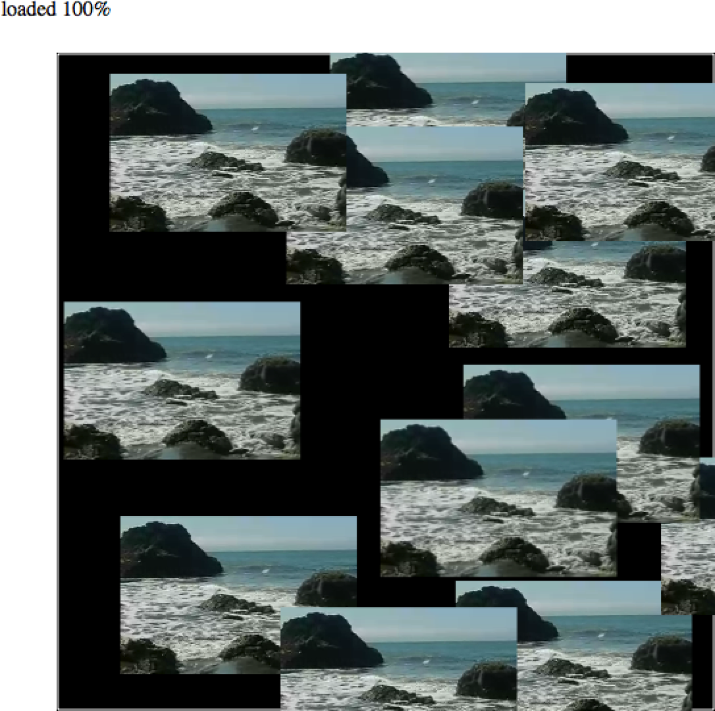 Canvas video animation demo