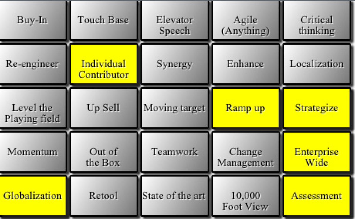 BS Bingo in Safari Desktop Edition