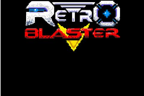Retro Blaster title screen