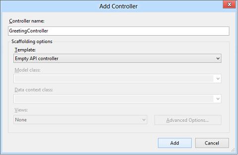 Web API controller scaffolding