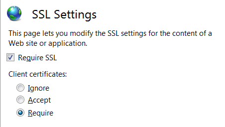 Configuring TLS client authentication