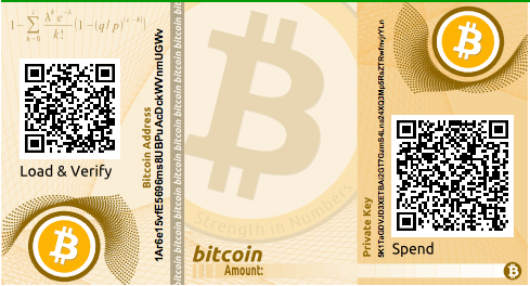 An example of a simple paper wallet from bitaddress.org