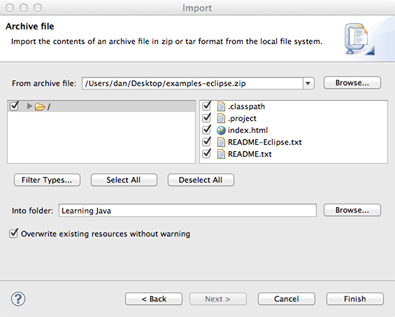 New Java Project dialog
