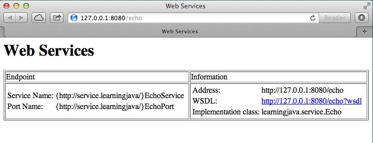 Web services description