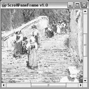 The ScrollPaneFrame application