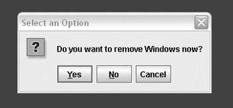 Using a confirmation dialog
