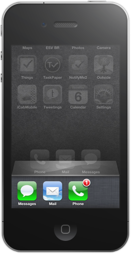 Multitasking via fast app switching in iOS 4, which occurs by double-clicking the Home button