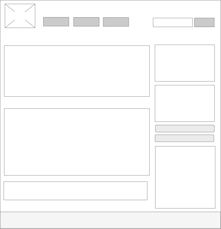 Example of a web wireframe