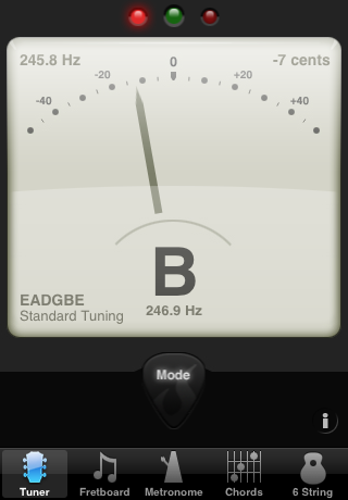 Guitar Toolkit, which creates an intuitive interface by mimicking a guitar tuner