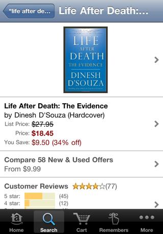 Amazon.com's iPhone app