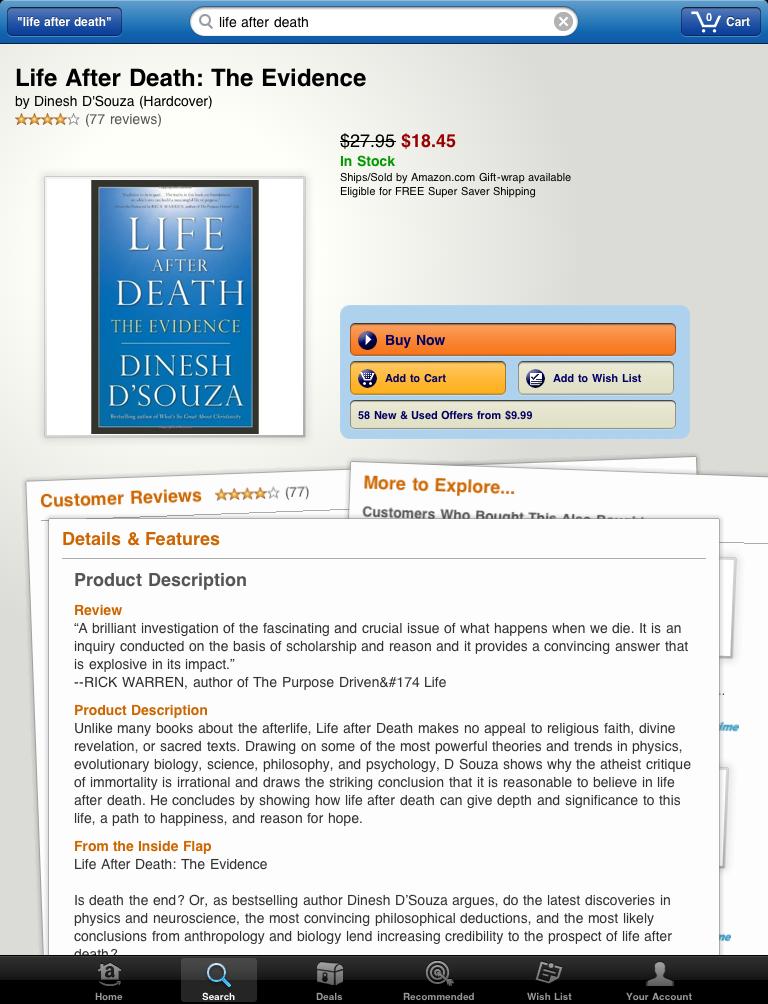 Amazon.com's iPad app