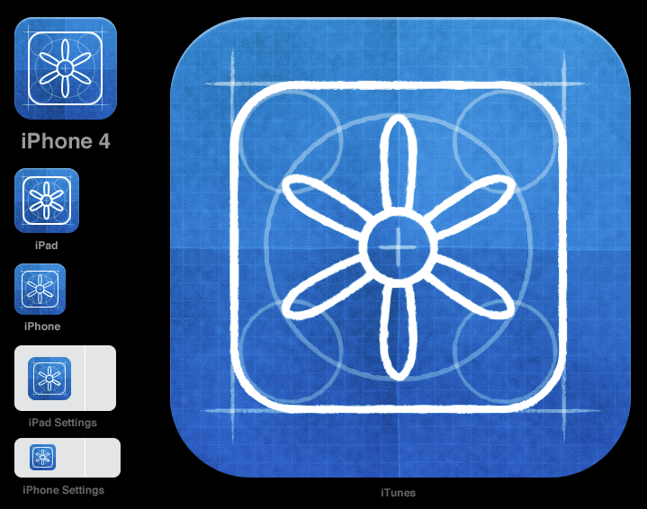 Neven Mrgan's most common icons required across all iOS devices