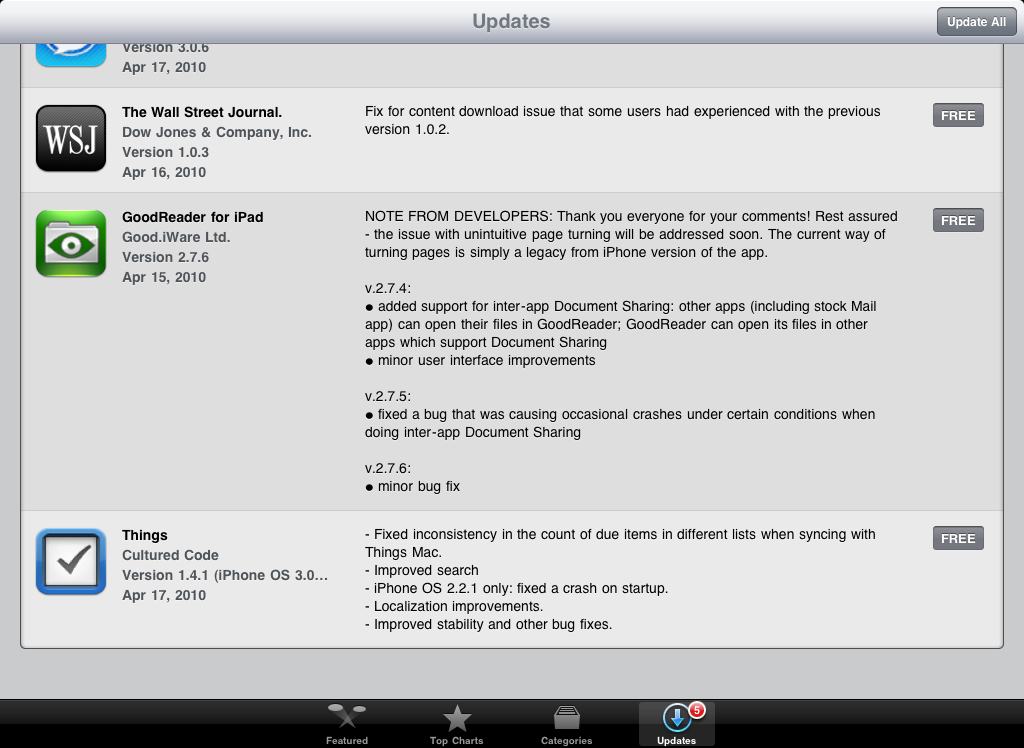 How Apple uses the What's New in this Version information on the App Store