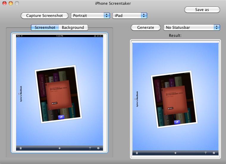 iPhone Screentaker – Editing out the status bar in a screenshot