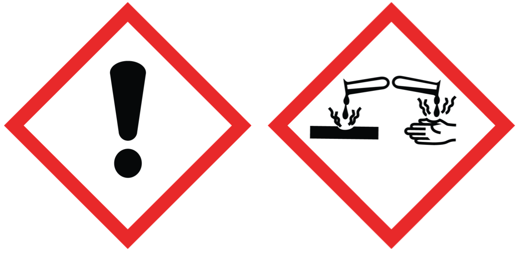 Toxicity pictograms I: avoid contact (irritant, corrosive)